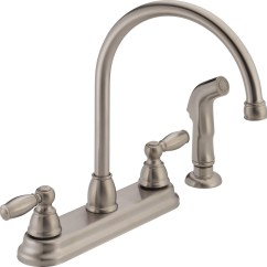 Two Handle Kitchen Faucet Decorative Shelves Peerless 2 With Side Spray Stainless Steel Walmart Com