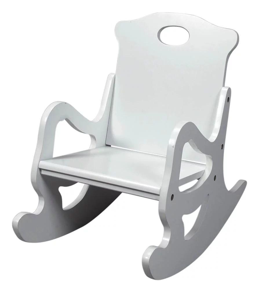 kids wood rocking chair eddie bauer high cover pattern w white finish walmart com
