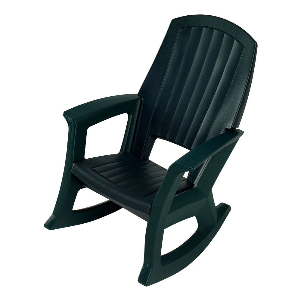 semco plastics sems recycled plastic resin outdoor patio rocking chair green