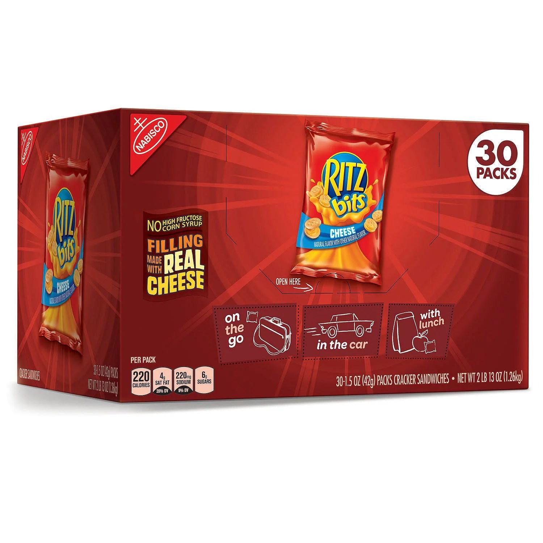 Nabisco Ritz Bits Cheese Cracker Sandwiches 15 oz packs
