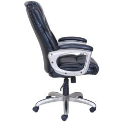 Tall Desk Chairs With Backs Hammock Hanging Chair Computer Office Leather Swivel Ergonomic Executive High Back Seat Black