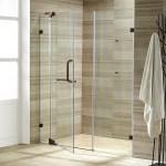 Vigo 66 Frameless Shower Door 3 8 Clear Glass Brushed