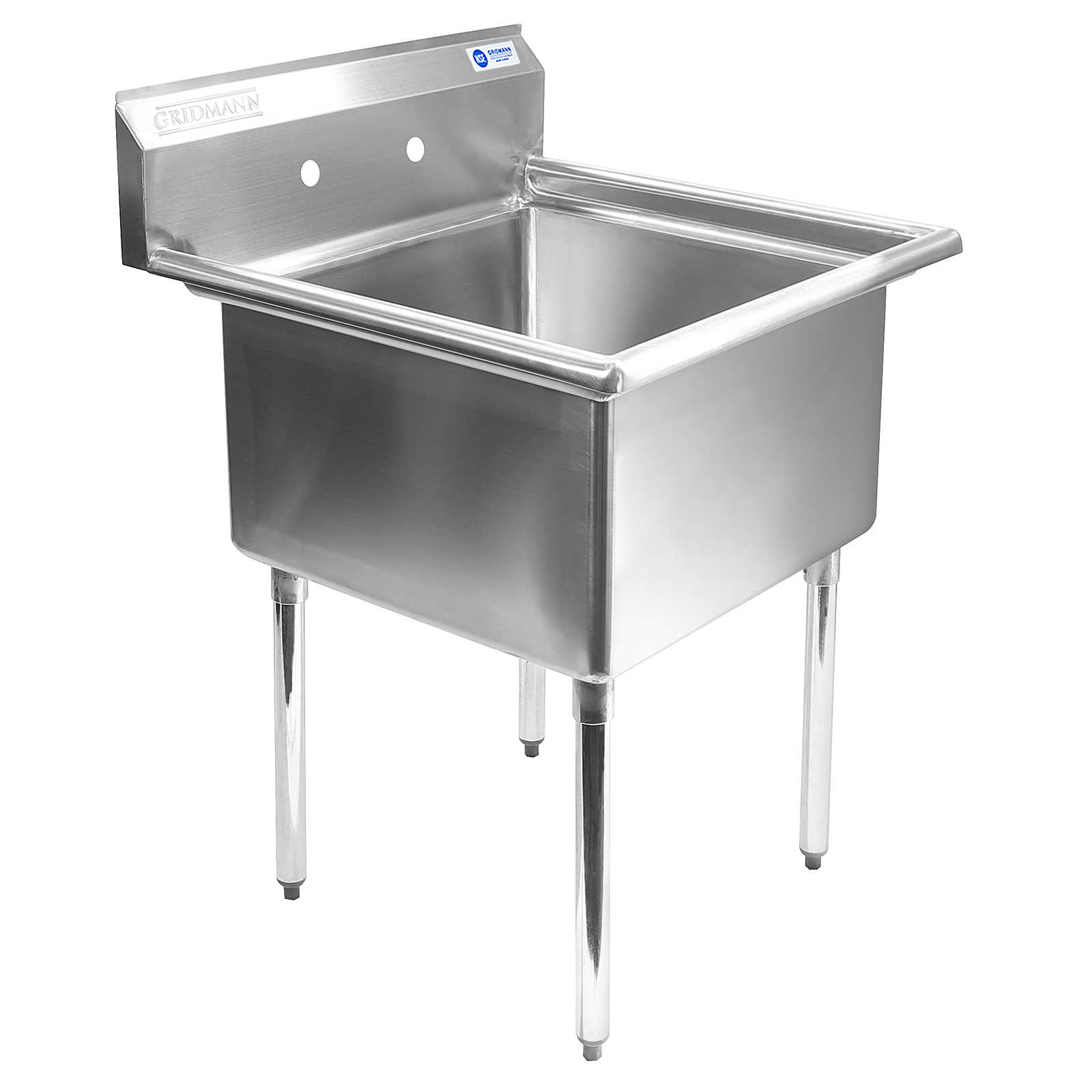 commercial kitchen sink lowes remodeling gridmann 1 compartment nsf stainless steel prep utility 30 in