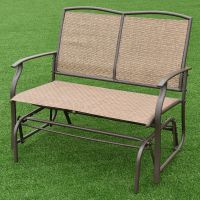 Costway Patio Glider Rocking Bench Double 2 Person Chair