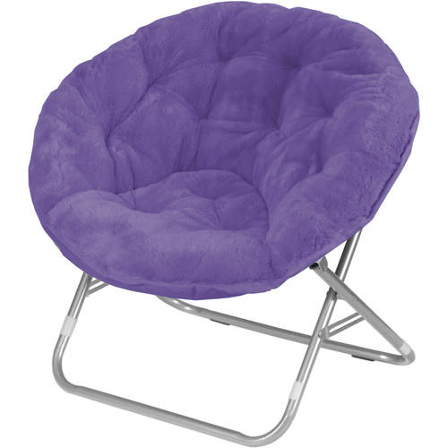 adult saucer chair used lycra covers for sale mainstays faux-fur chair, multiple colors - walmart.com