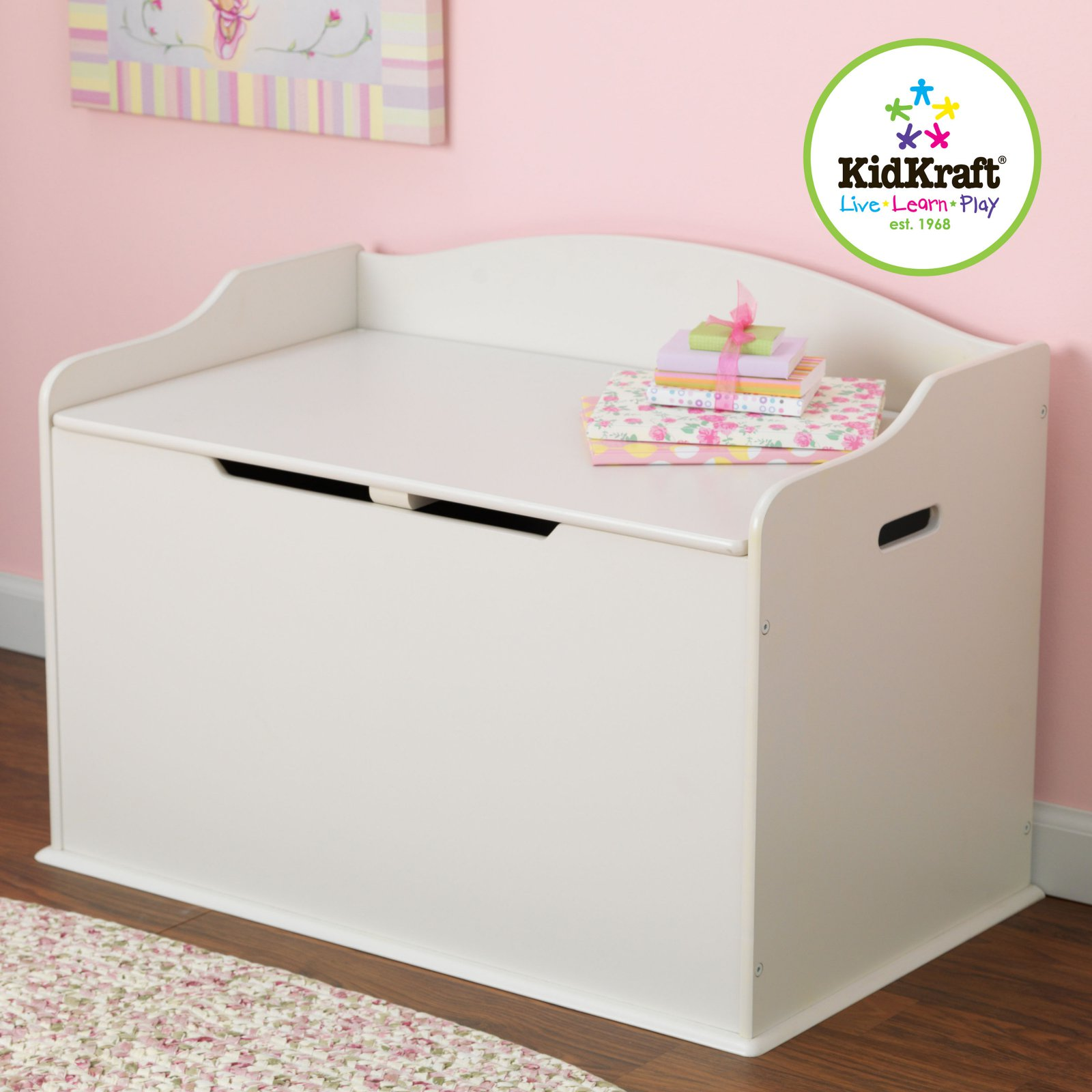 Kidkraft Limited Edition Toy Chest White On Casters