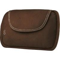 HoMedics Shiatsu Lumbar Pillow with Heat, Chocolate Brown ...