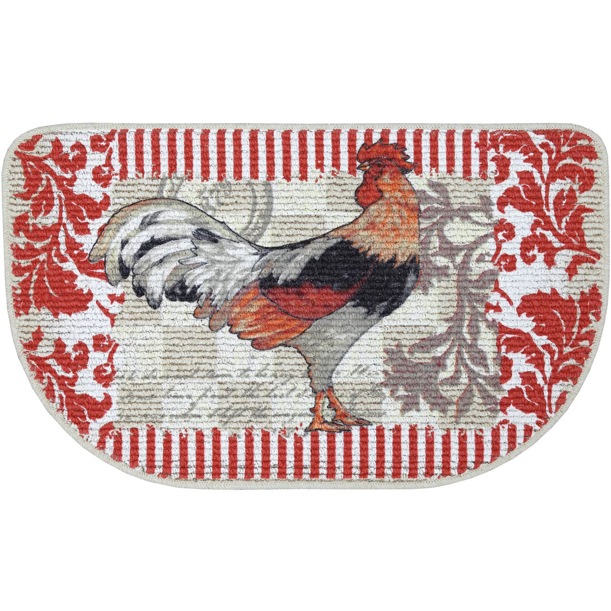 rooster kitchen rug cabinets in kansas city mainstays printed slice mat 18 x 30 walmart com