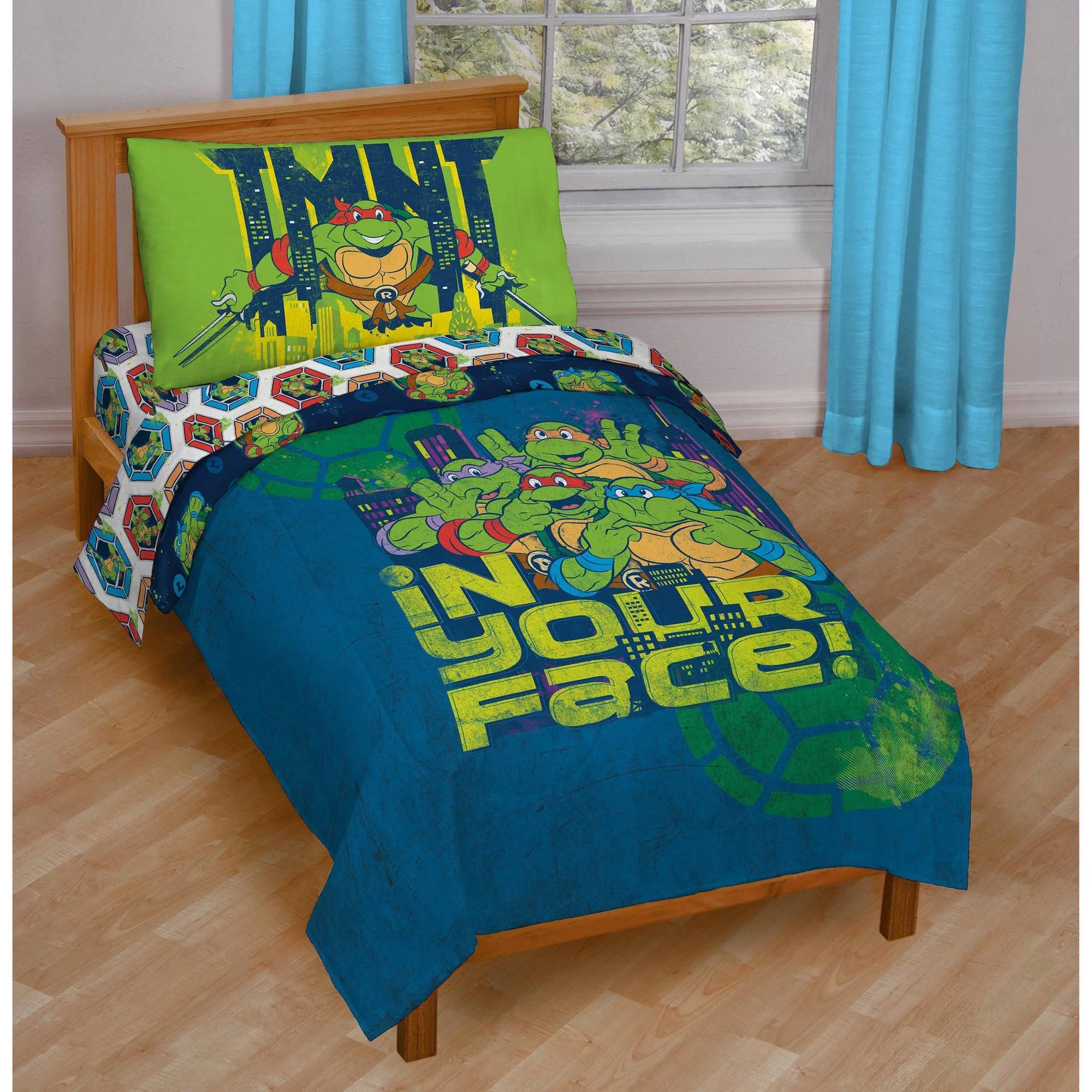 Nickelodeon Teenage Mutant Ninja Turtles 4Piece Toddler Bedding Set  Walmartcom