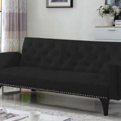 Serta Bonded Leather Convertible Sofa Flip Flop Sofas Futon Home Decor