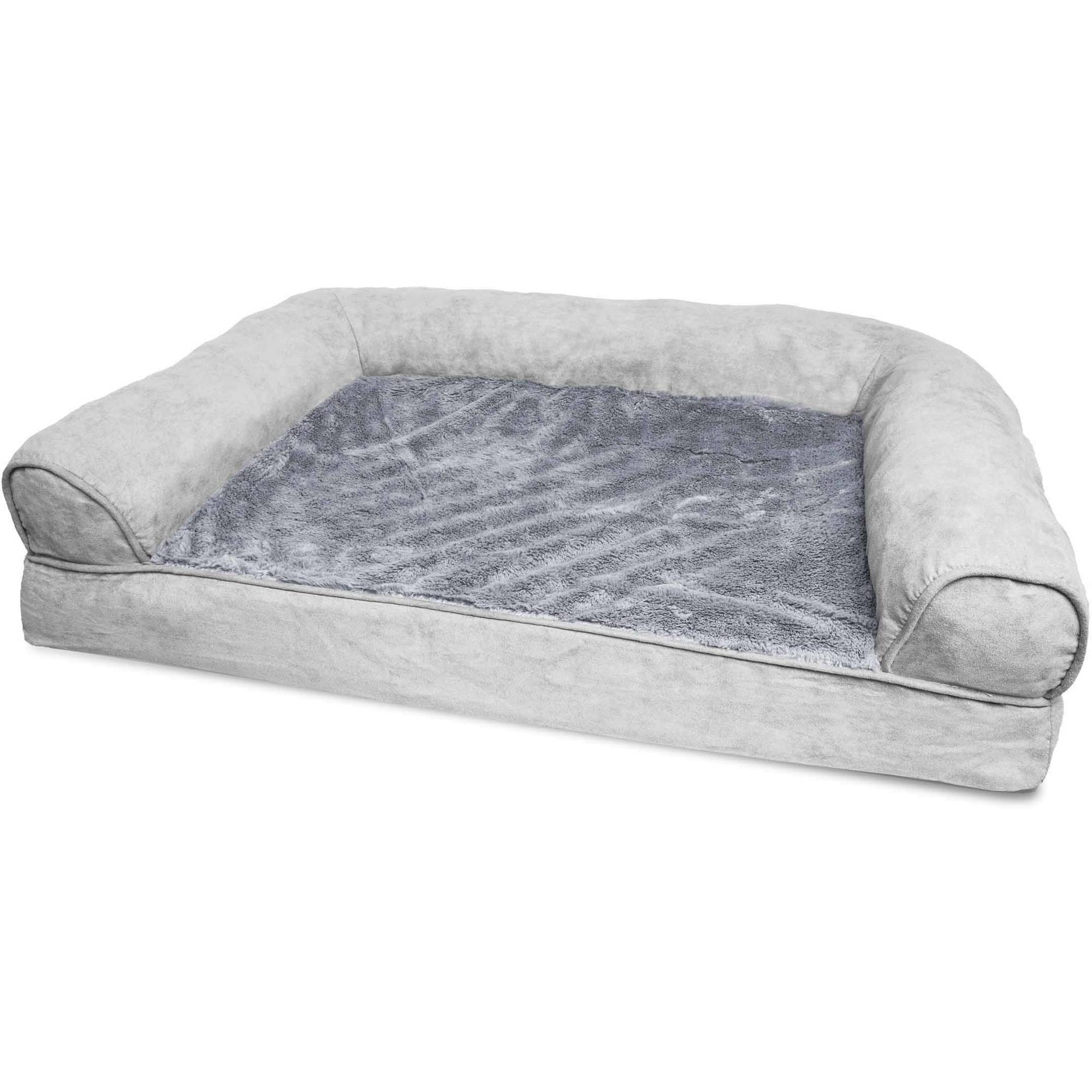 orthopedic sofa modern sleeper sofas for small es furhaven plush dog bed pet ebay