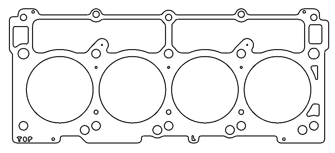 cometic gasket c5750 040 cylinder head gasket mls for use with chrysler dodge 8 cyl 5 7l hemi left side 4 1 inch bore 3 layer stainless steel  [ 2000 x 2000 Pixel ]