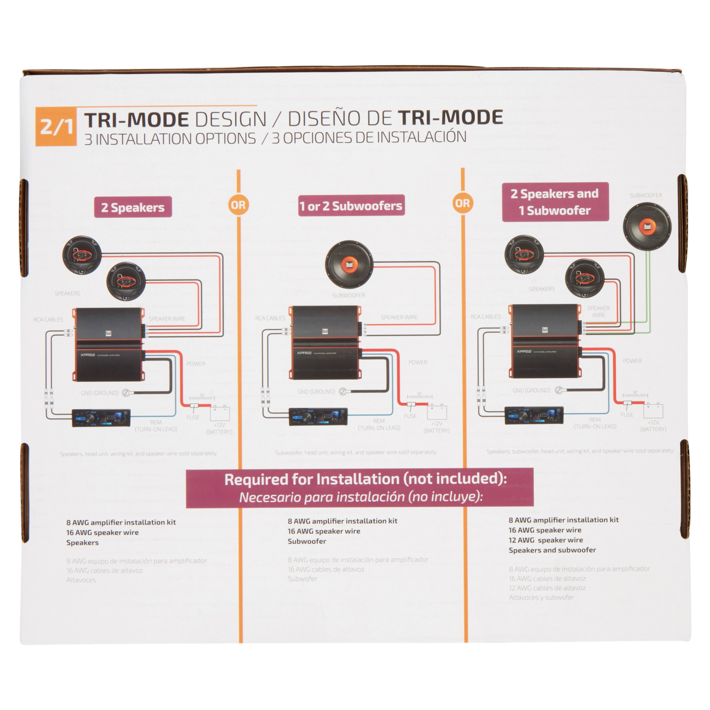 dual xpr52 2 channel bridgeable amplifierdual 2 channel amp wiring diagram 17 [ 2365 x 2365 Pixel ]