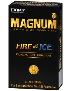 Trojan magnum fire and ice large size lubricated latex condoms ct walmart also rh