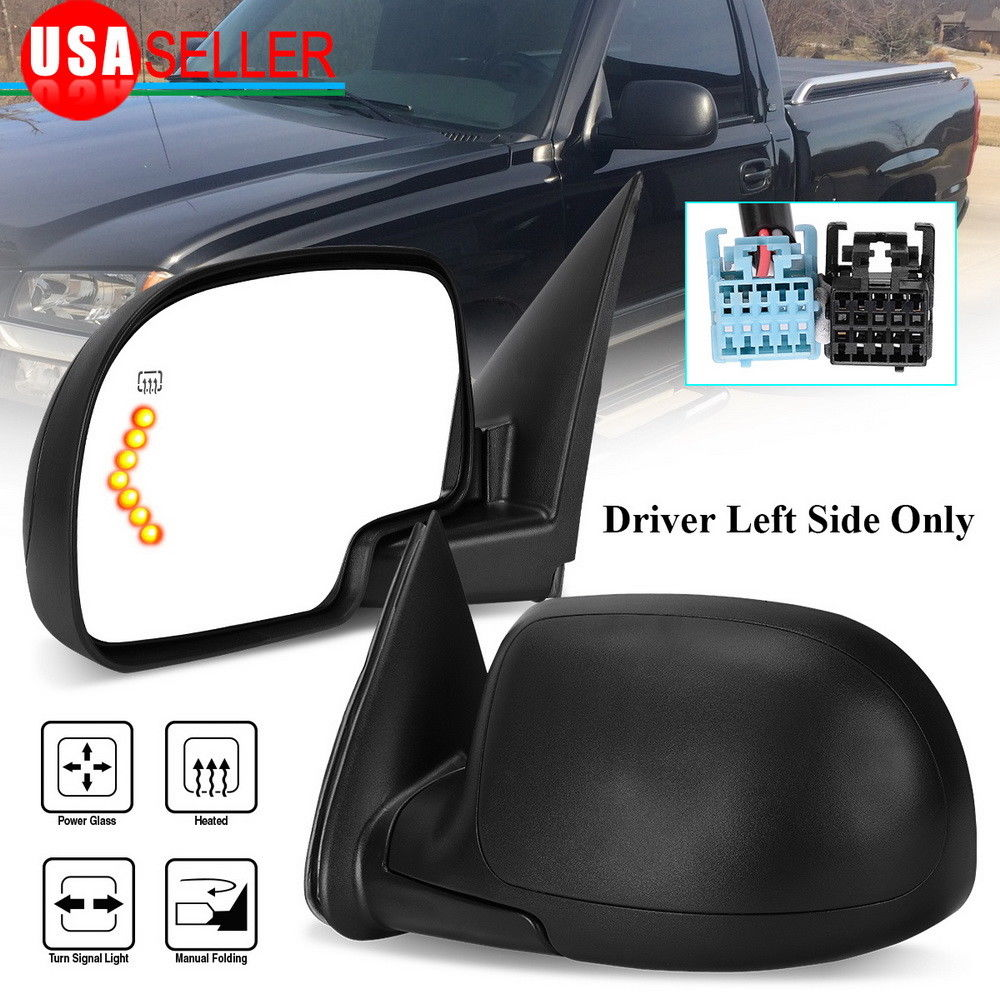 hight resolution of side view mirror passenger right for 03 06 silverado sierra power heated signal walmart com