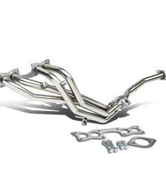 for 90 97 nissan d21 hardbody pickup 2 4l chrome 4 1 performance header exhaust manifold walmart com [ 1200 x 1200 Pixel ]