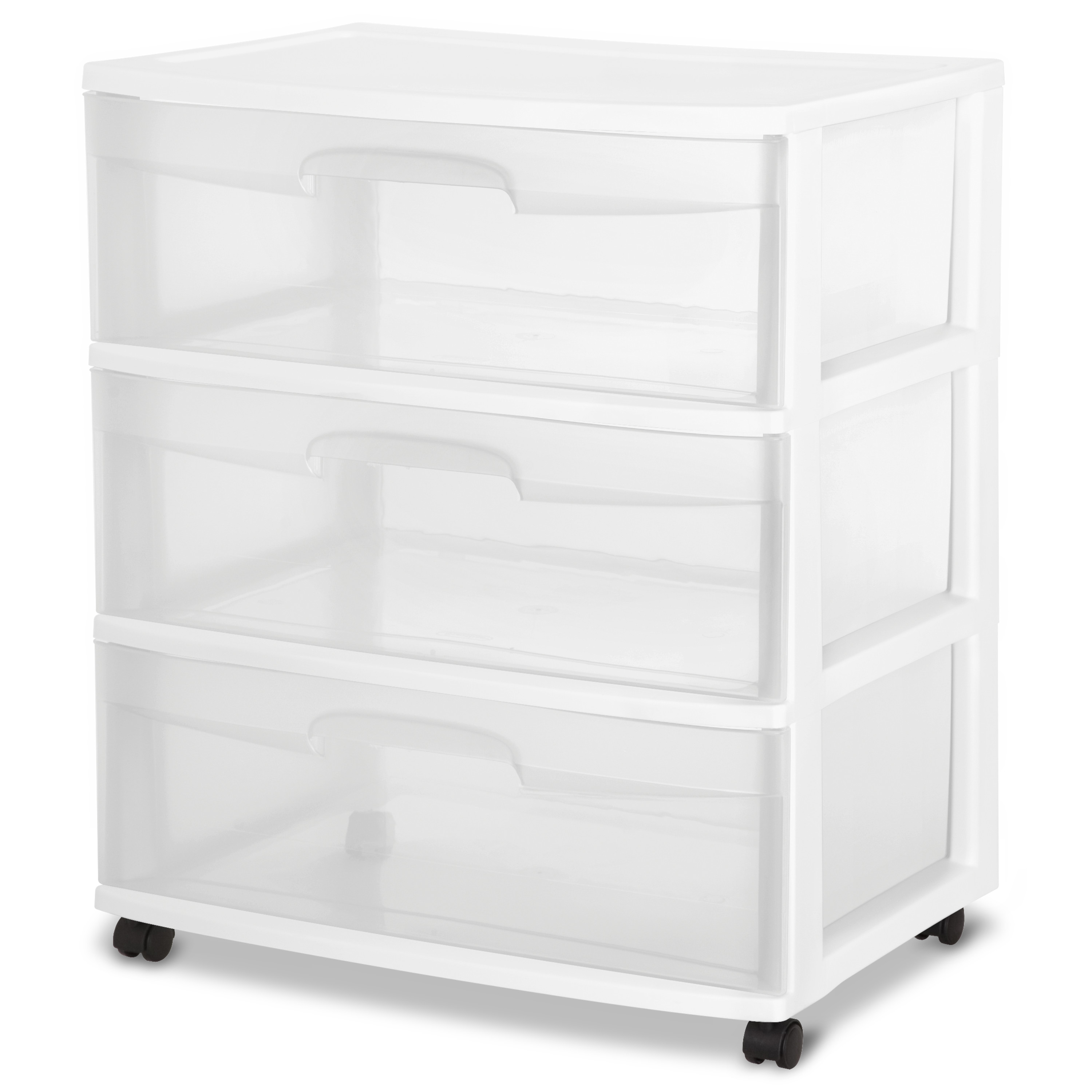 sterilite 3 drawer wide