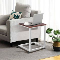 Tv Sofa Small Armless Sectional Coffee Tray Side End Table Lap Stand Snack Ottoman Couch Room Rolling