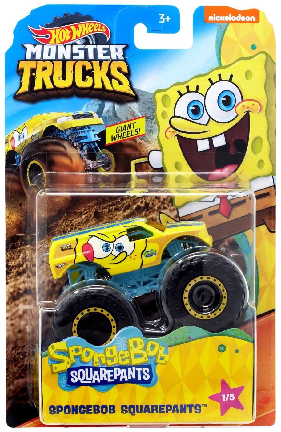 Nickelodeon Monster Truck : nickelodeon, monster, truck, Wheels, Monster, Trucks, Spongebob, Squarepants, Die-Cast, Walmart.com
