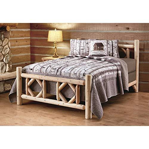 castlecreek diamond cedar log bed king