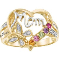 Personalized Keepsake Mom's Blessing Birthstone Ring ...