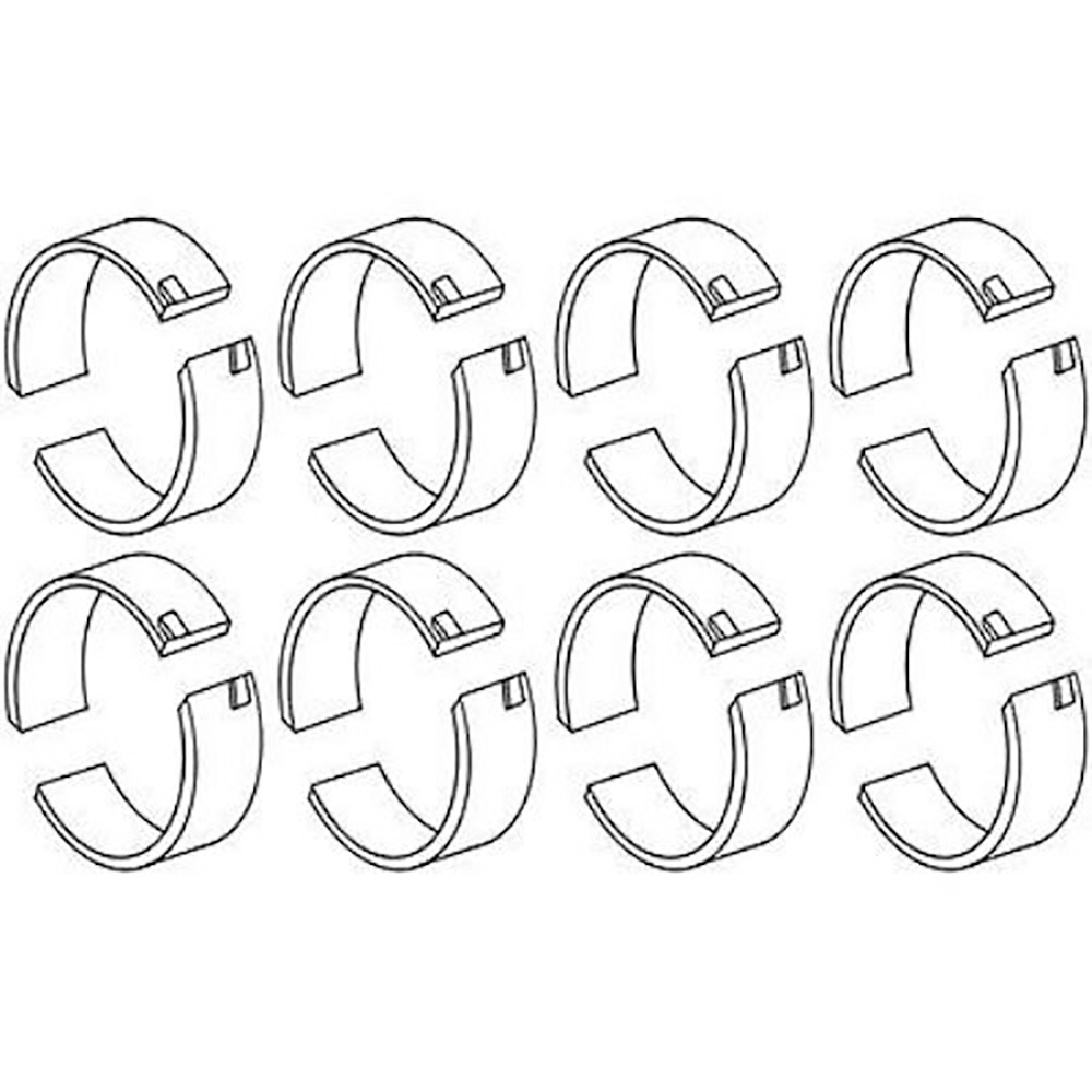 9N6211A Set of (8) STD Connecting Rod Bearings for Ford