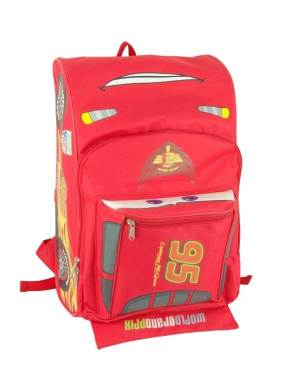 Disney - Backpack Cars Lightning Mcqueen Shape Large Bag 625597