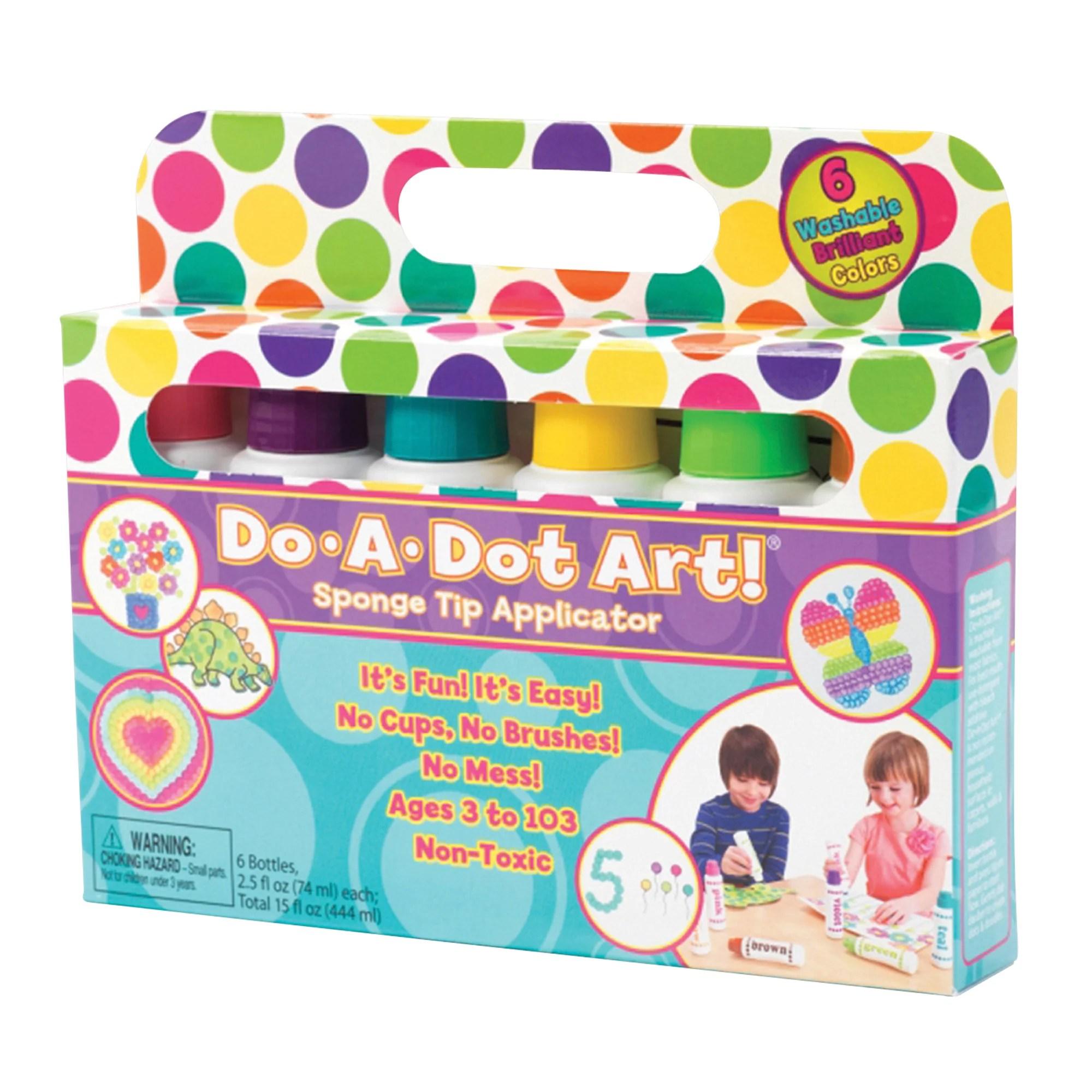 Do A Dot Art Washable Brilliant Markers 6 Colors