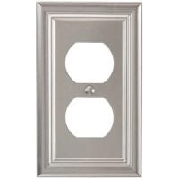 Elumina Continental Cast, Satin Nickel Wallplate, Duplex