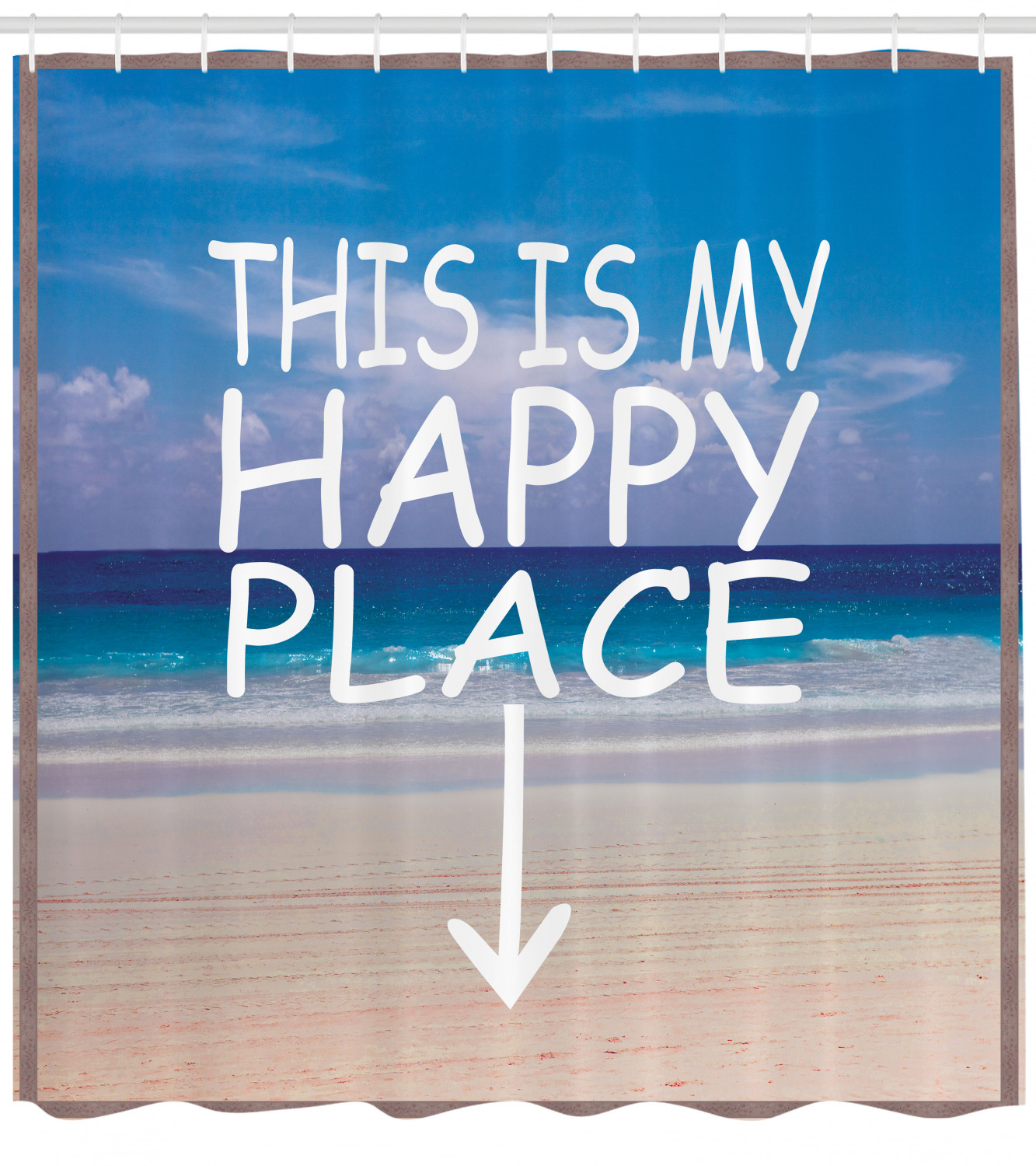 beach scene this is my happy place shower curtain extra long 84inch