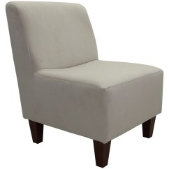 Brown Slipper Chair Rattan Garden Covers Armless Accent Wheat Tan Microfiber Fabric Dark Legs New