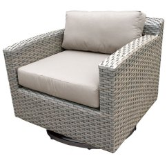 All Weather Wicker Outdoor Chairs Wedding Chair Covers Cambridge Tk Classics Florence Swivel Walmart Com