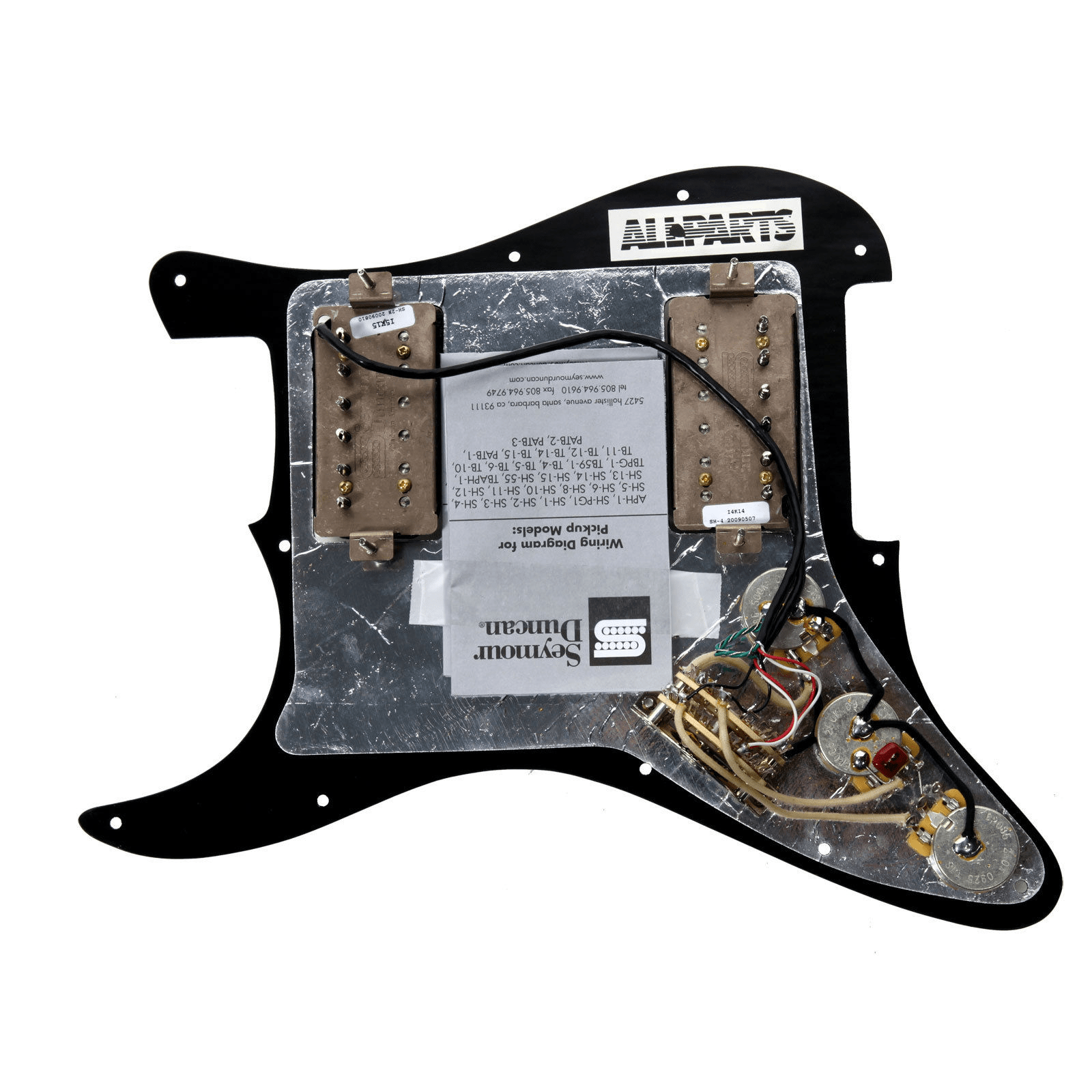 hight resolution of 920d custom loaded black hh pickguard seymour duncan sh 2n tb 4 black walmart com