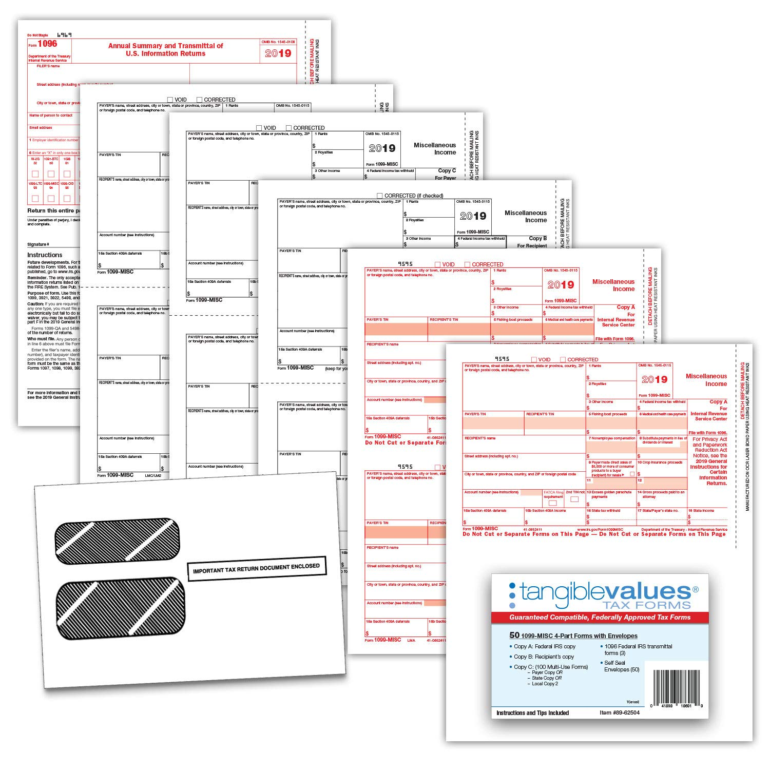 Misc 4 Part Tax Form Kit For 50 Designed For