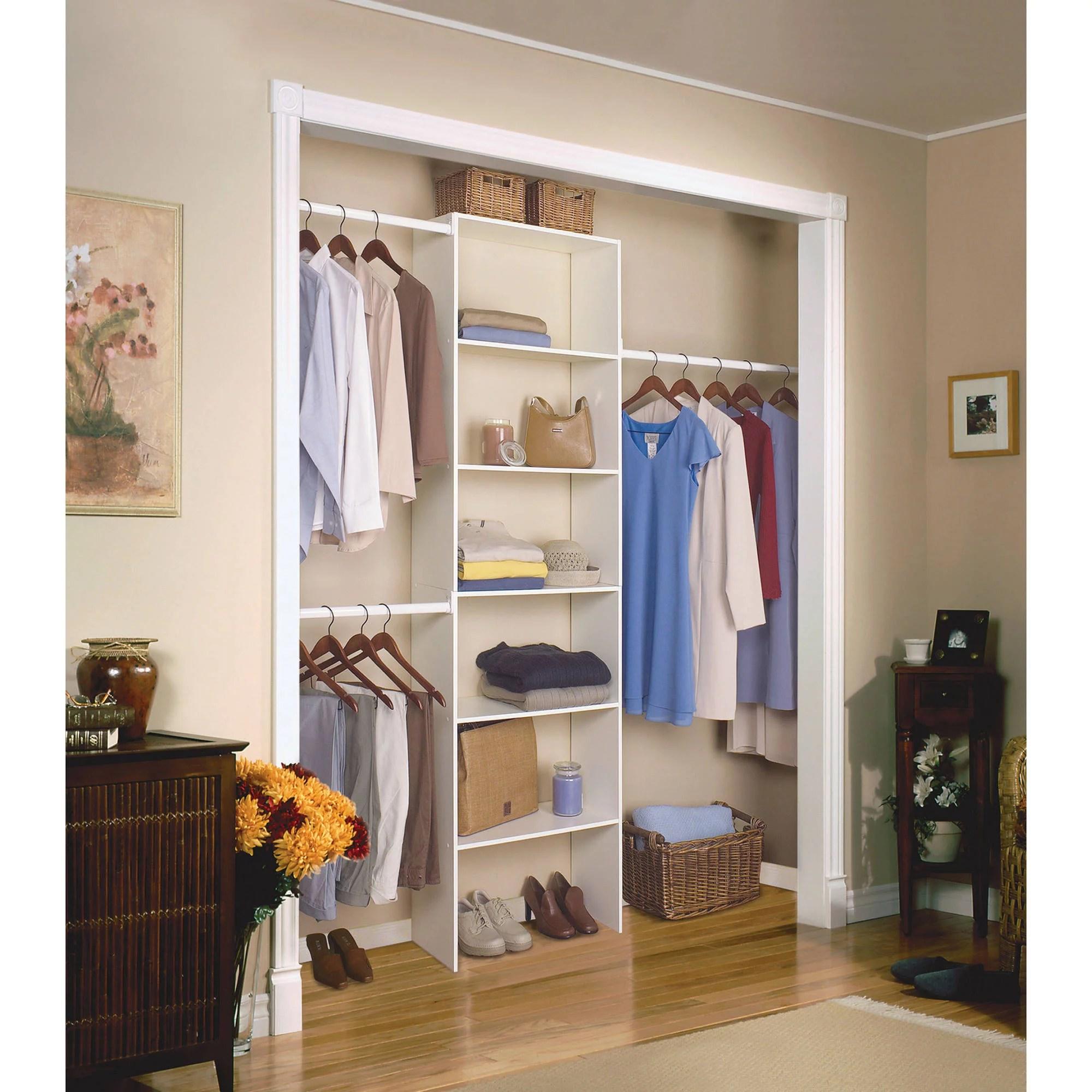 closetmaid multi purpose vertical laminated wood closet organizer 24 white