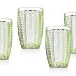 Twill Green Set Of 4 Highball Glasses 14 Oz Walmart Com Walmart Com