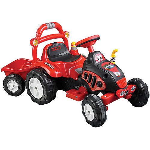 Ride On Toy Tractor And Trailer Battery Powered Ride On