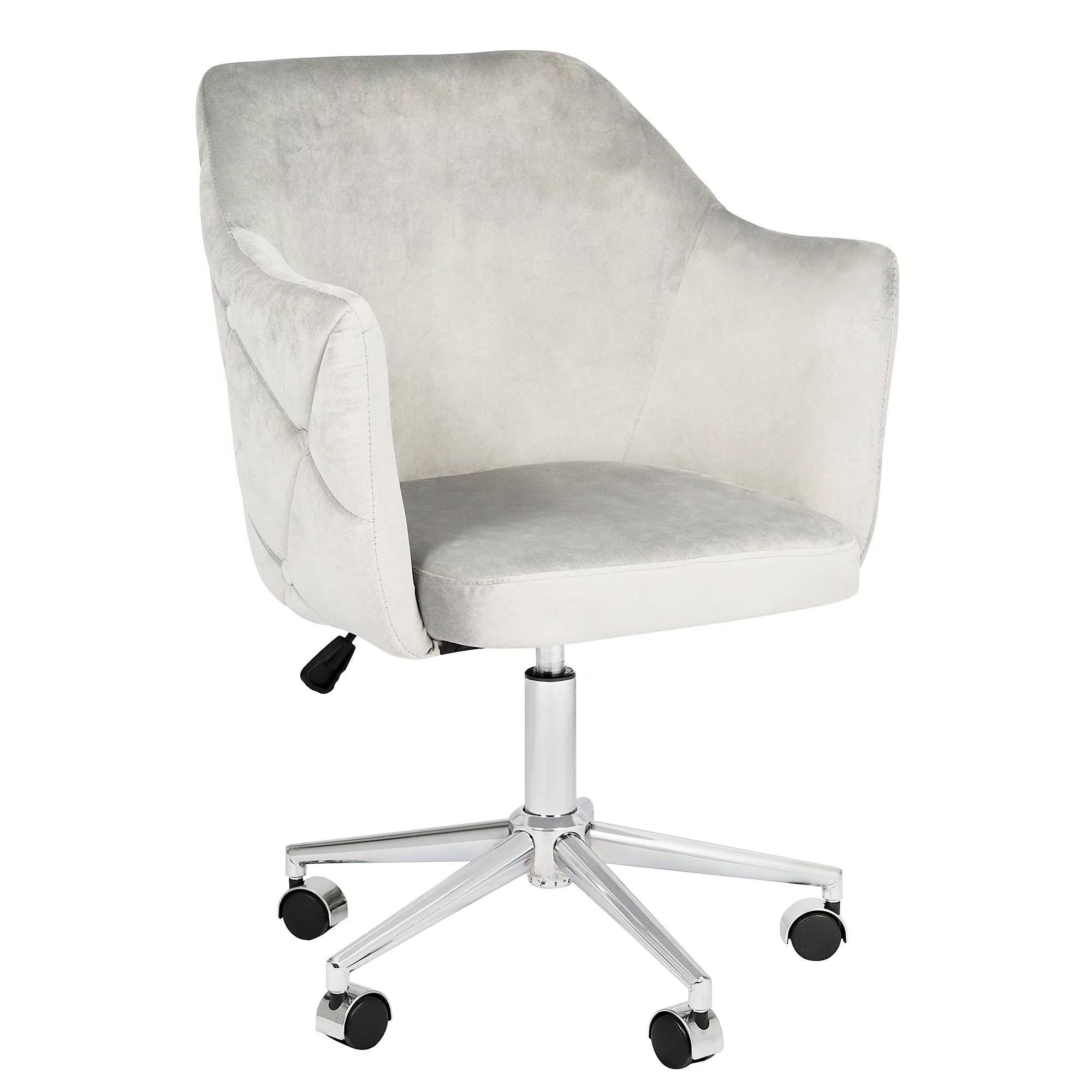 impressions pearl tufted vanity chair with adjustable swivel makeup ultra cozy vanity chair with stainless steel flat base