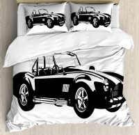 Cars King Size Duvet Cover Set, Silhouette Classic Sport ...