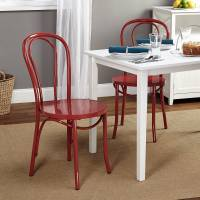 Vintage Inspired Cafe Chair, Set of 2, Multiple Colors ...