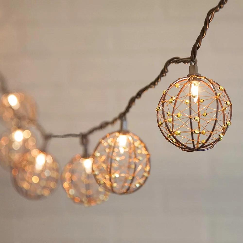 novelty string lights copper