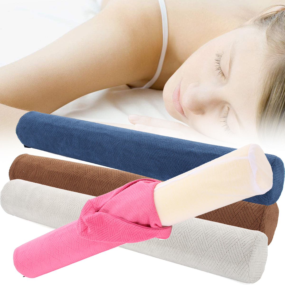 23 x4 washable round cervical pillow