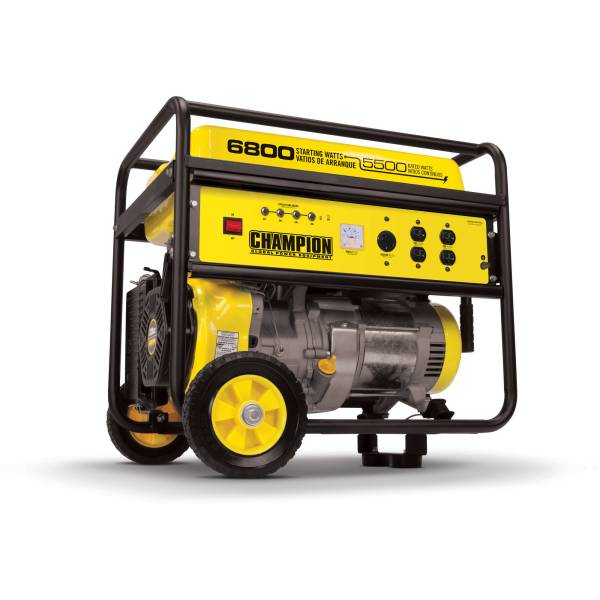 Champion 41135 5500 Watt Portable Generator With Wheel Kit