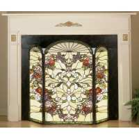 Meyda Tiffany 47991 Stained Glass / Tiffany Fireplace