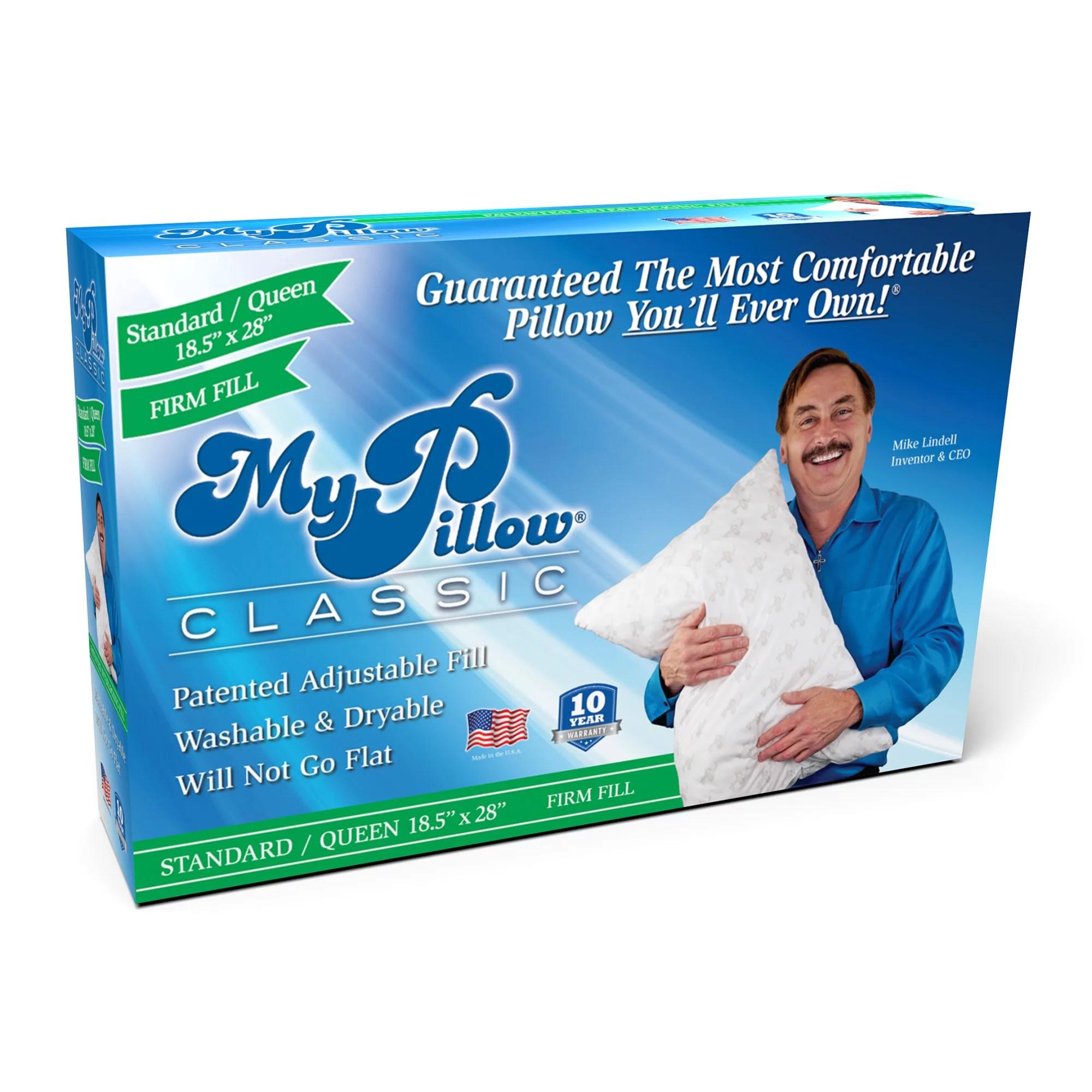 mypillow classic queen size pillow firm support