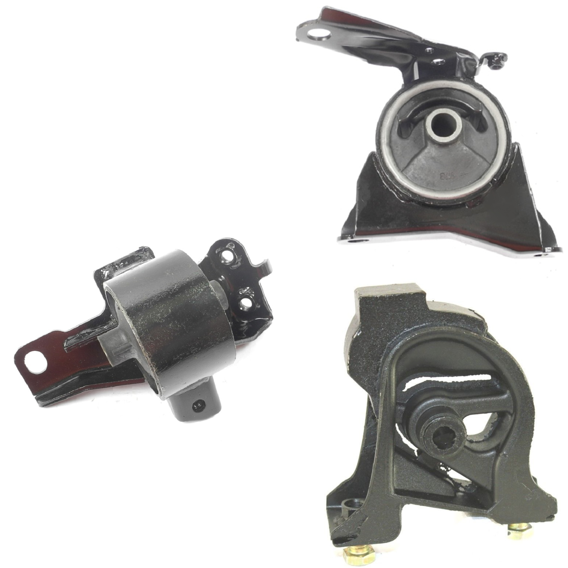 hight resolution of cf advance for 93 97 geo prizm 1 6l fwd engine motor transmission mount manual set 3pcs 1993 1994 1995 1996 1997 walmart com