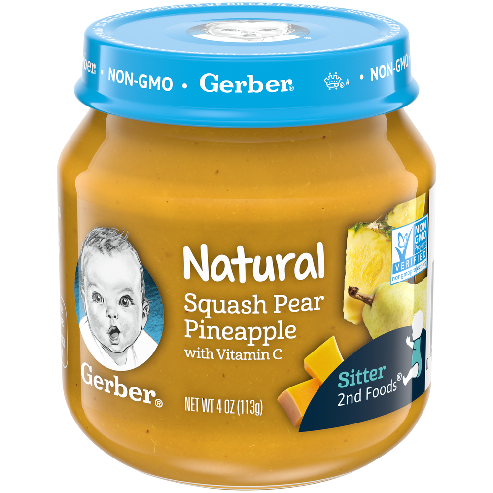 (Pack of 10) Gerber 2nd Foods Naturals Squash Pear ...
