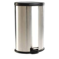Stainless Steel Kitchen Trash Can Cottage Cabinets Mainstays Oval 10 6 Gallon Walmart Com