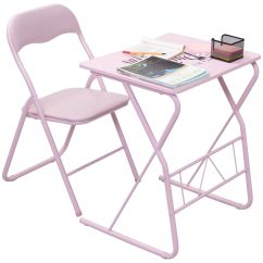 Wooden Folding Table And Chairs Set Office Chair Arm Covers Depot Goplus Kids Study Writing Desk Student Departments