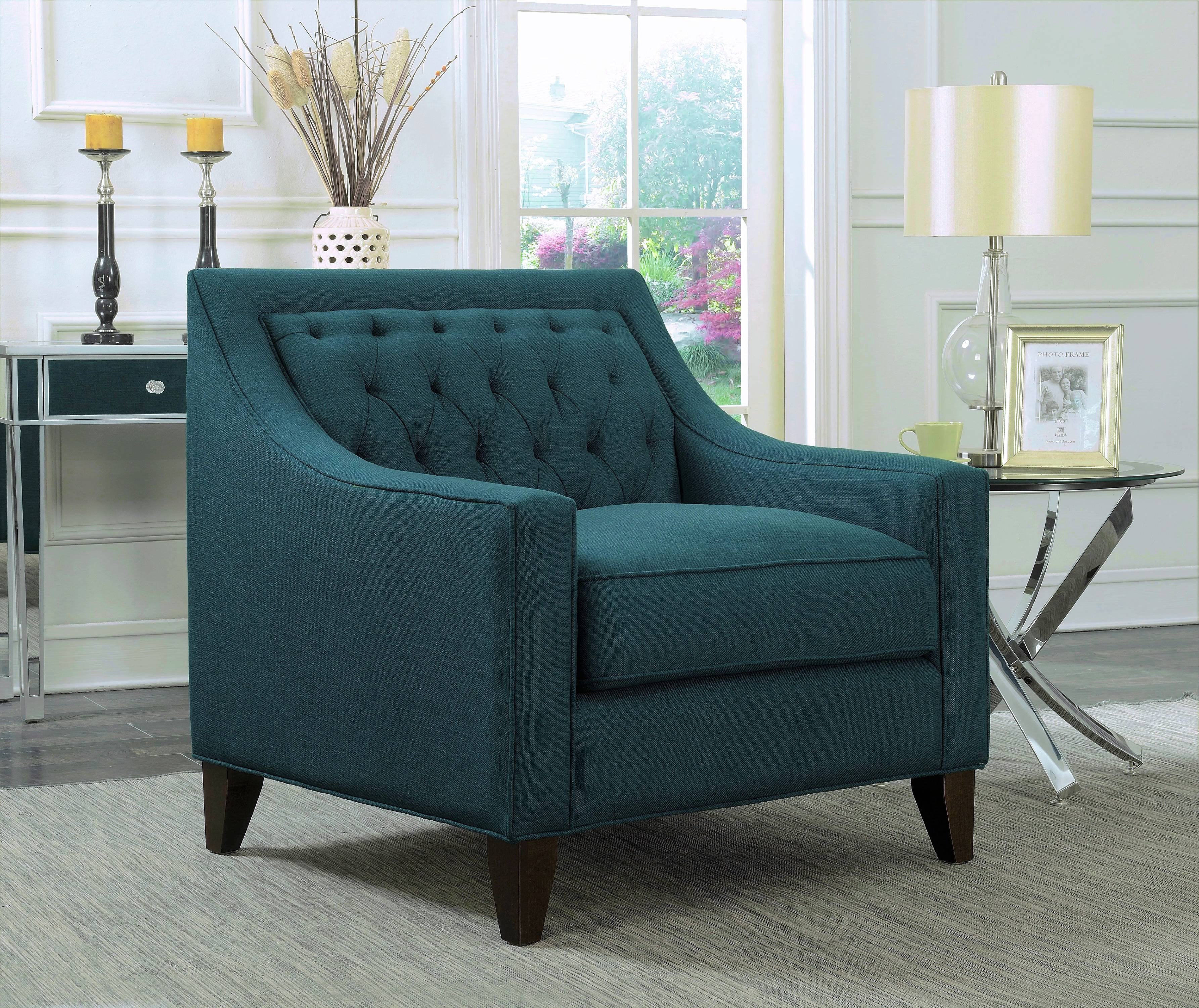 teal club chair webbed lawn chairs chic home fulla linen tufted back rest modern contemporary walmart com
